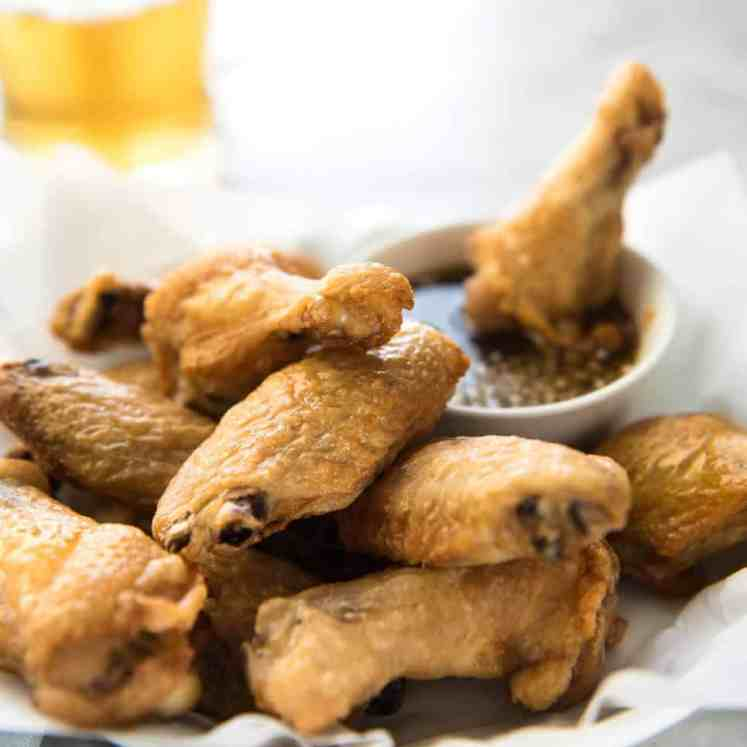 These oven baked wings are so crispy, you will think they've been deep fried! You will be shocked how easy these are to make! www.recipetineats.com