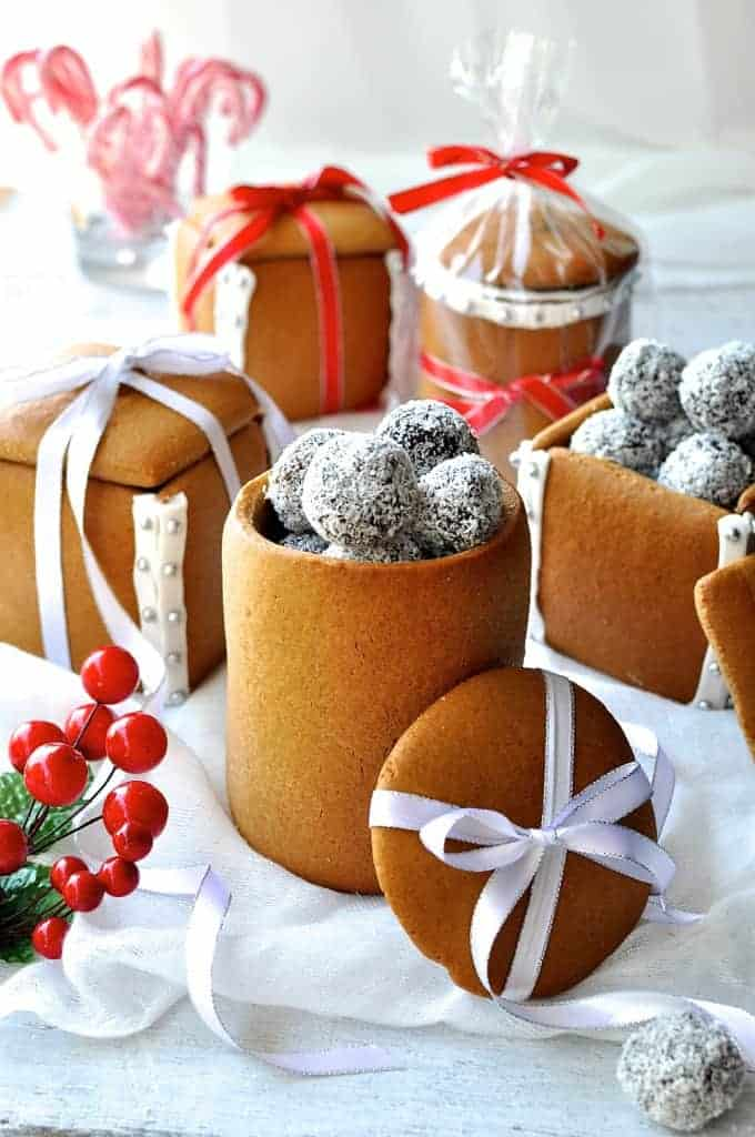 Gingerbread boxes mason jars recipetin eats for Christmas cookies to make for gifts