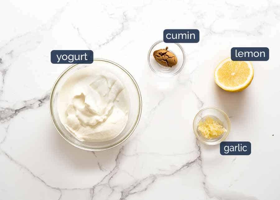 Lemon Yogurt Sauce for Lamb Koftas