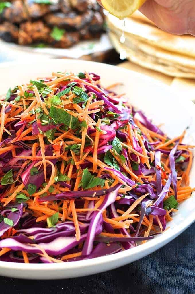 Shredded Red Cabbage, Carrot and Mint Salad | RecipeTin Eats