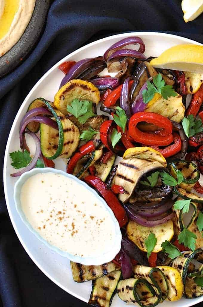 Chargrilled Vegetable Platter - a simple starter or vegetarian meal that is just as great warm, at room temperature, made fresh or the day before.