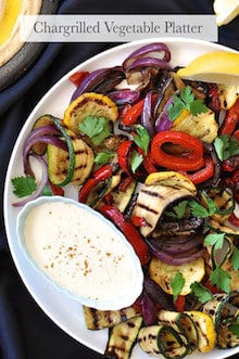 Arabian Feast Menu (1 hr prep): Chargrilled Vegetable Platter