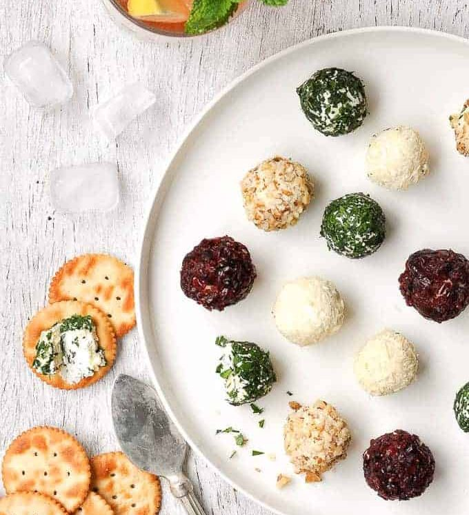 Cheese Truffles (Mini Cheese Balls) - so much more practical than making one giant one! Fast and easy to make, with 3 filling variations and loads of coating options.