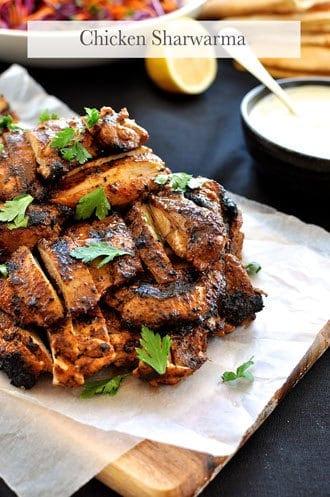 Arabian Feast Menu (1 hr prep): Chicken Sharwarma