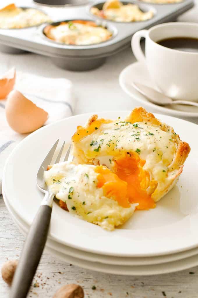 Muffin Tin Breakfast - Croque Madame Toastie Cups