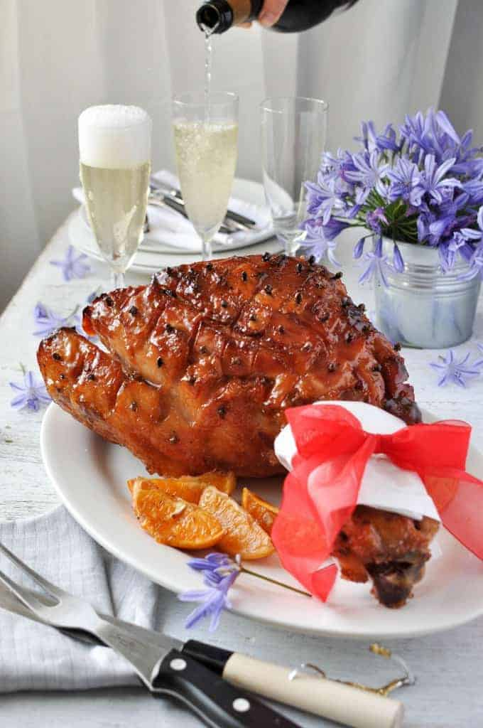 Easy Maple Sticky Glazed Ham To Make And Looks Impressive The Surface Is