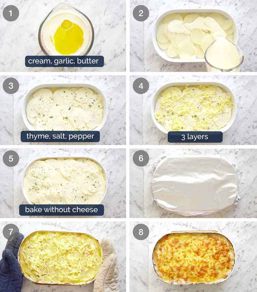 How to make Potatoes au gratin (Dauphinoise Potatoes)