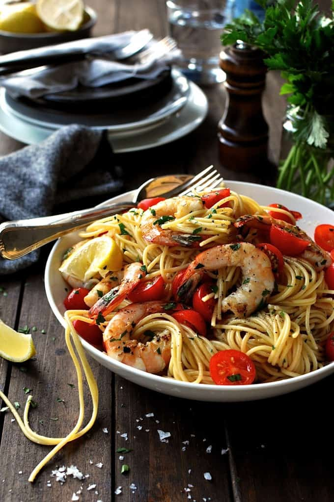 prawn shrimp and lemon pasta restaurant style