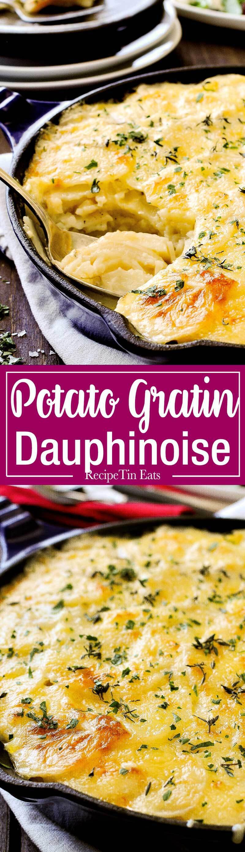 Julia Child's Potato Dauphinoise - The ultimate potato bake! This is the legendary Julia Child's potato gratin - layers of potato slices with cream, cheese and a hint of garlic! www.recipetineats.com