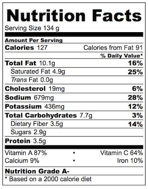Warm Red Cabbage Spinach Garlic Herb Butter Nutrition