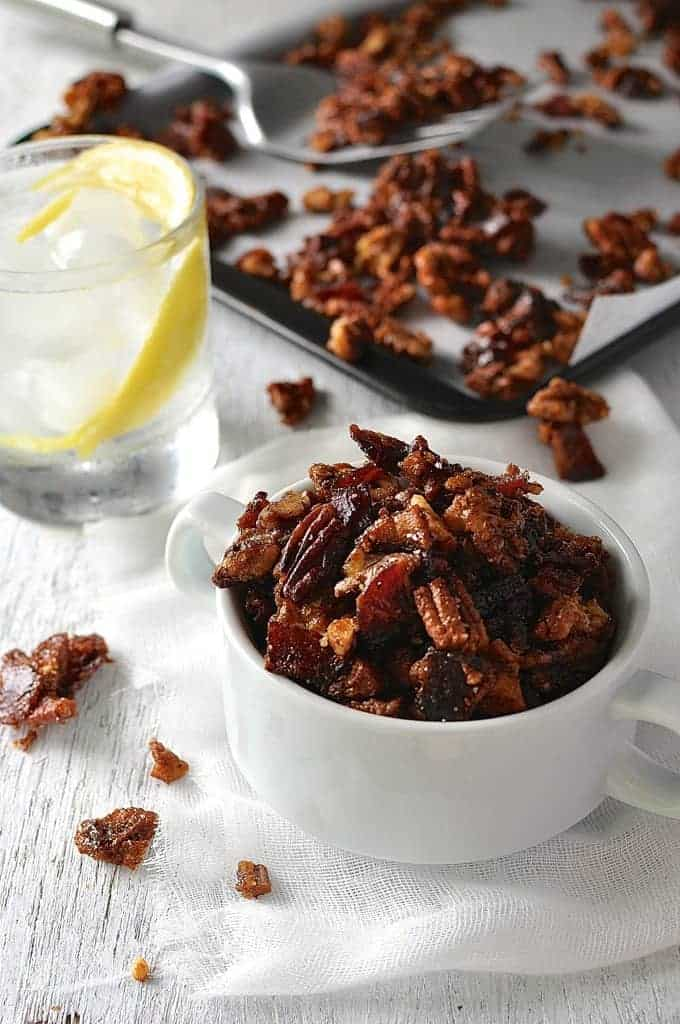 Man Candy: Candied Bacon and Nuts with a touch of spice. Be careful ...