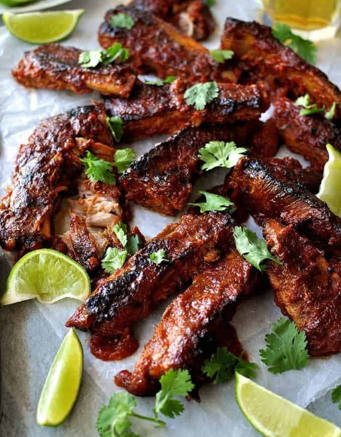 Oven Baked Pork Ribs with Chipotle BBQ Sauce - RecipeTin Eats