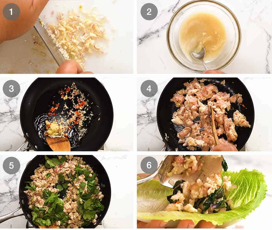 How to make Thai Lettuce Wraps