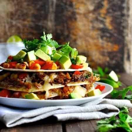 Taco Stack with Pork Carnitas or Chicken