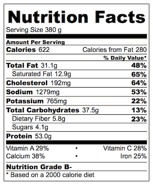 Taco Stack Nutrition