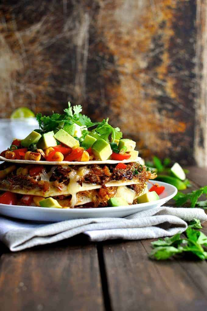 Taco Stack - made with Pork Carnitas or Chicken, fast and easy to make, fun and delicious to eat!