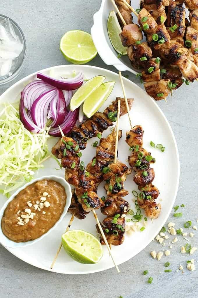 Satay Chicken with Restaurant Style Peanut Sauce (Indonesian/Bali ...