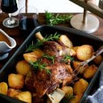 Slow Cooked Lamb Shoulder - cheaper, tastier and easier to make than a leg of lamb. Infused with garlic and rosemary, so tender you don't need a carving knife. www.recipeteineats.com
