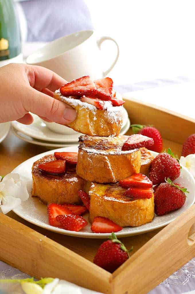 Mini French Toast - 15 minute made from scratch, great for breakfast in bread (eat with your hands, no crumbs!)
