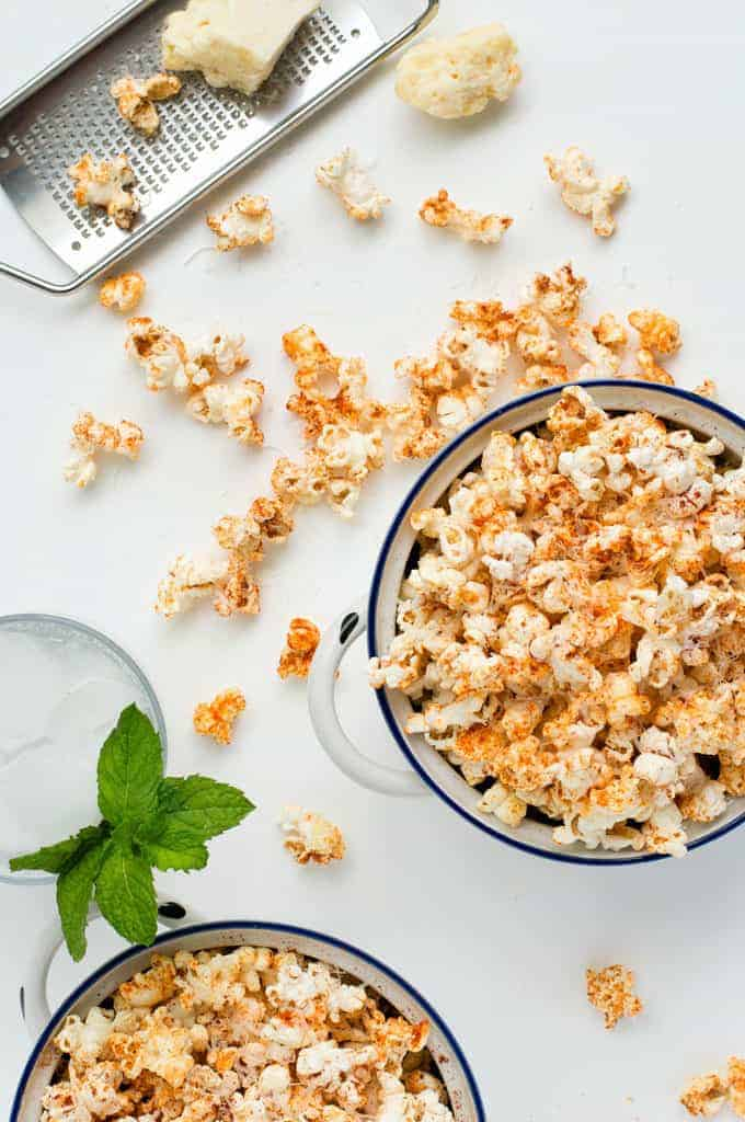 how to get seasonings to stick to popcorn