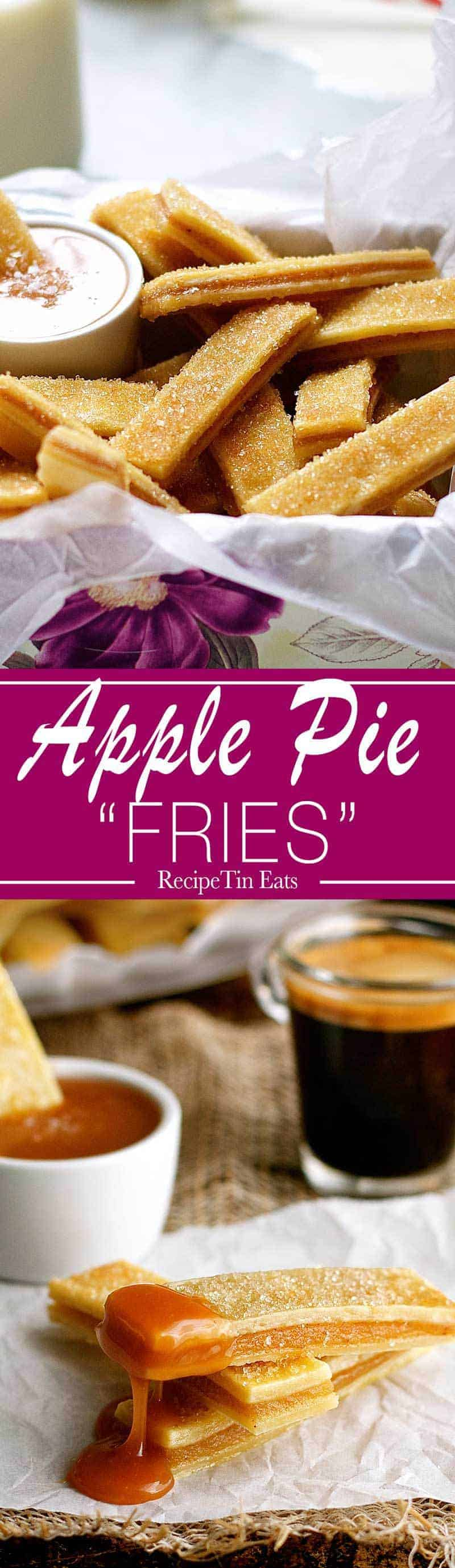 """Apple Pie """"Fries""""   Made these for a gathering, they were a HIT with kids AND the parents!!!"""