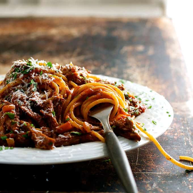 Beef Ragu Recipe - a classic Italian dish with deep, rich flavours. Fast prep, slow cook, made with pantry ingredients! www.recipetineats.com