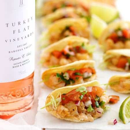 Bite Size Shrimp Tacos (Prawn) - the mini taco shells are made by ...