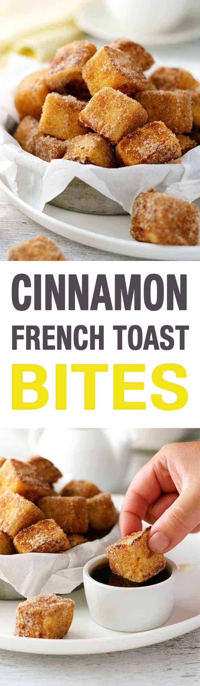 "French Toast Bites - fun to make, you kind of ""sauté"" them! And fun..."