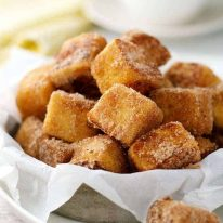 A pile of Cinnamon French Toast Bites