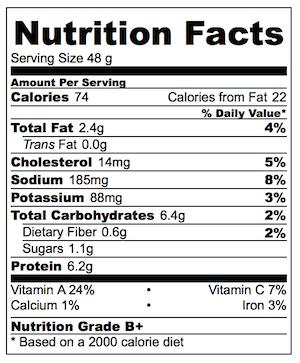 Thai Chicken Salad Wonton Cups Nutrition