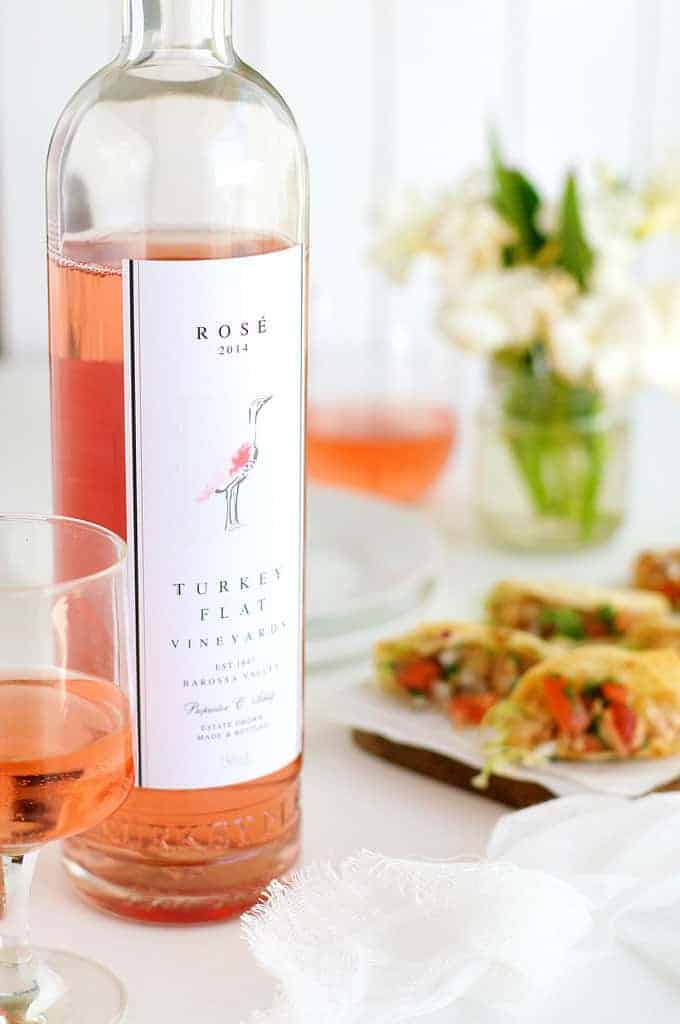 Turkey Flat rosé bottle