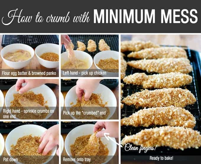 how to cook crumbed chicken tenders