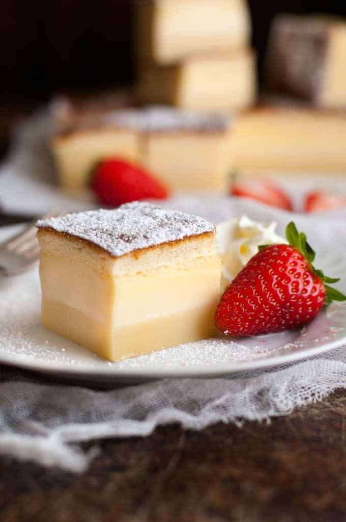 Magic Three Layer Custard Cake