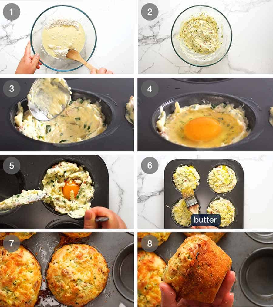 How to make Breakfast Muffins with a whole egg inside!