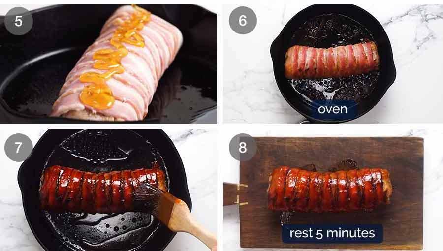 How to make Bacon wrapped pork tenderloin