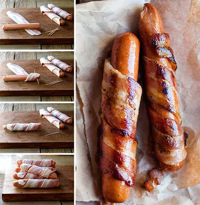 Stove Top Bacon Wrapped Hot Dogs