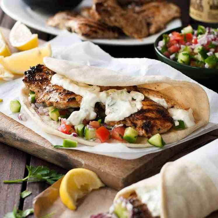 Greek Chicken Gryos feast, DIY wraps!
