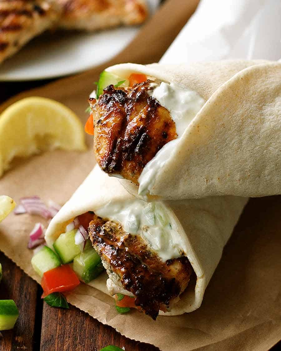 Greek Chicken Gyros Recipe Recipetin Eats