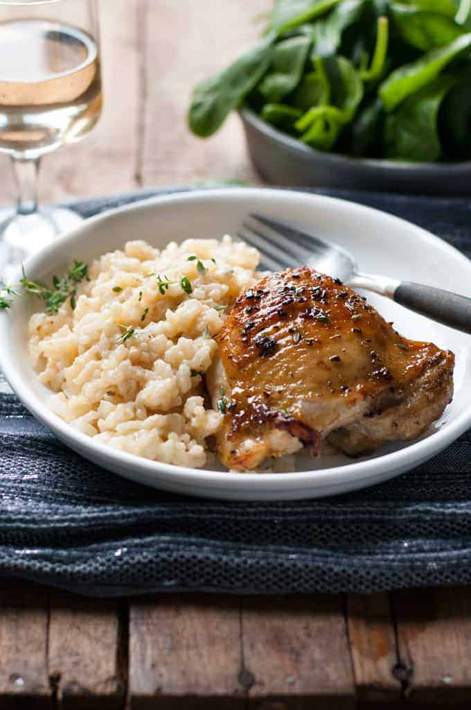 One pot creamy baked risotto with lemon pepper chicken for How do i make chicken risotto