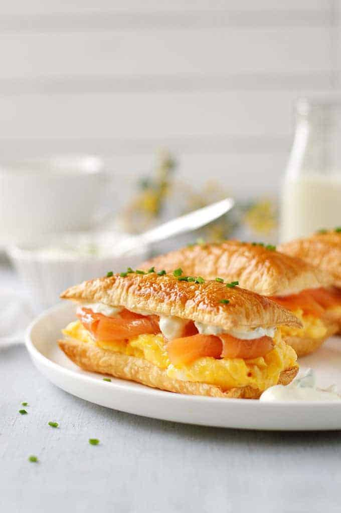 Smoked Salmon and Egg Breakfast Mille-feuille - a breakfast interpretation of the famous french pastry. 5 minutes prep for this elegant breakfast!