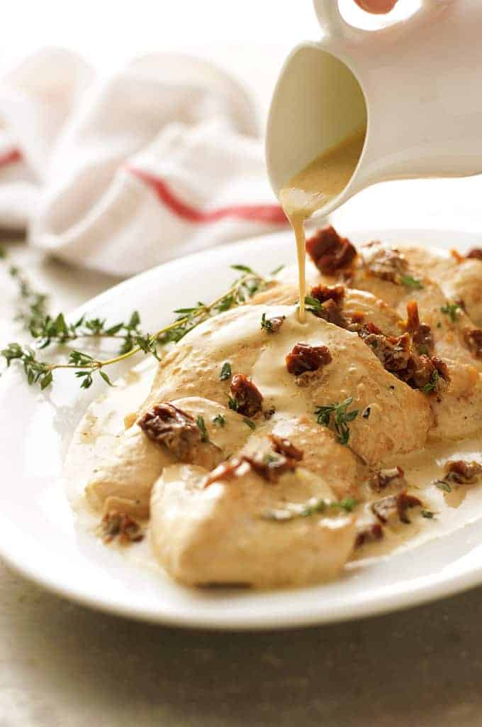 Chicken With Creamy Sun Dried Tomato Sauce Recipetin Eats