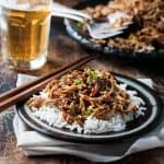 Sweet Soy Shredded Chicken - 5 minutes prep, make this in the slow cooker, stove or even a pressure cooker! Tossed in an Asian style jammy sauce.