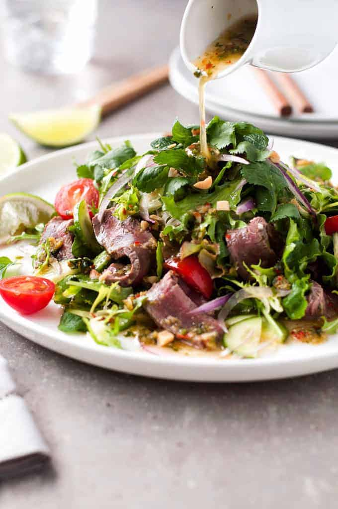 Thai Beef Salad Restaurant Style One Little Change To The Usual Recipe To