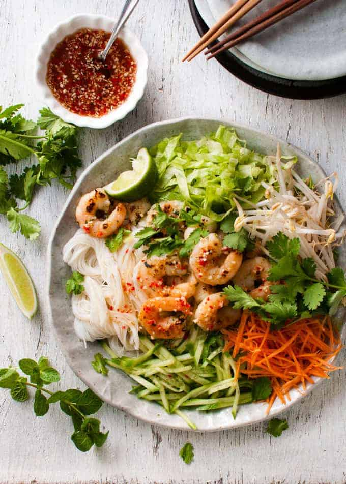 Vietnamese Shrimp (Prawn) Noodle Salad | RecipeTin Eats