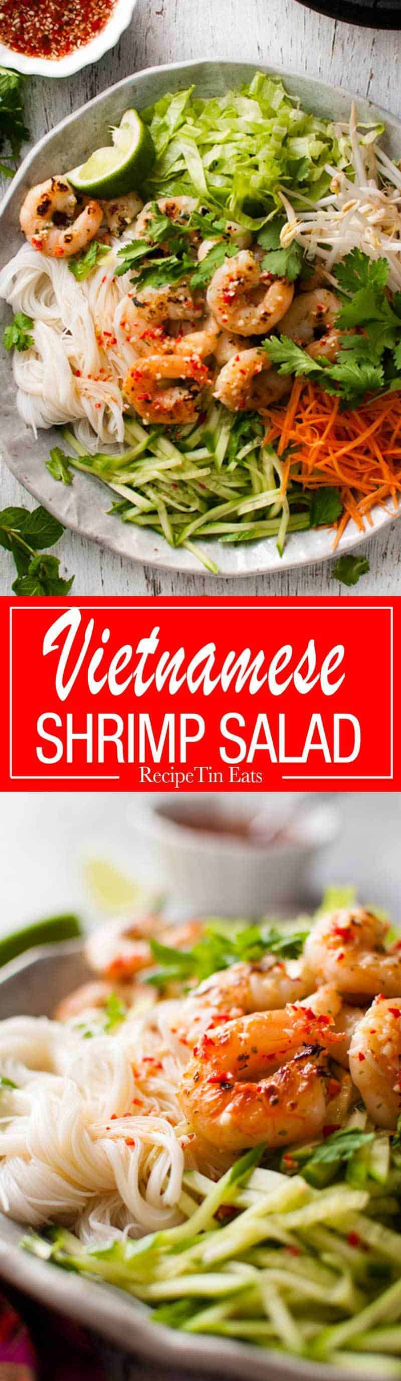 Vietnamese Shrimp Noodle Salad - lovely bright, zesty flavours, incredibly healthy, fast to make and an awesome dressing. recipetineats.com