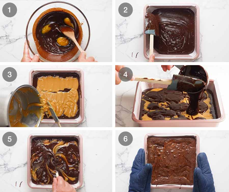 Caramel Brownies Recipetin Eats