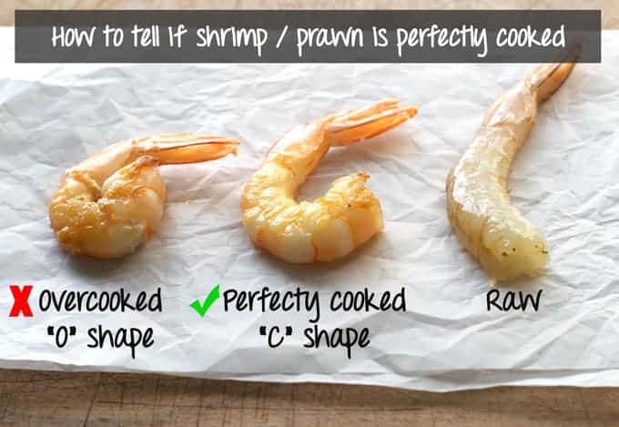 How to tell if shrimp / prawn is perfectly cooked