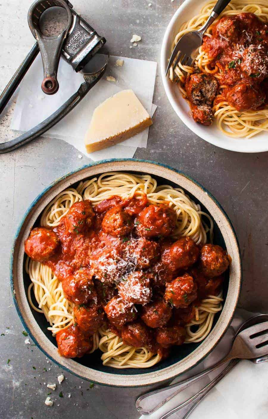 Classic Italian Meatballs - 2 little changes to the usual to make these extra soft, moist and with extra flavour! www.recipetineats.com
