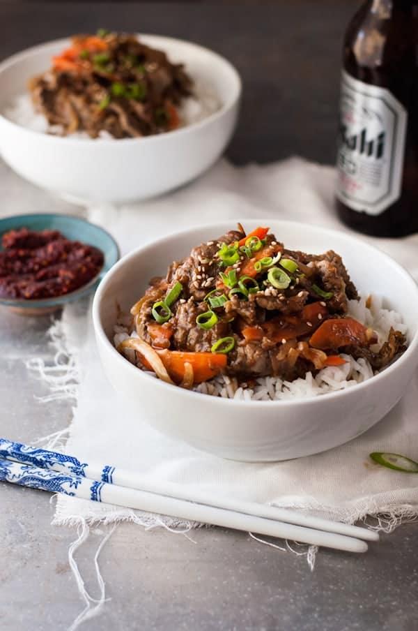 Korean Beef Bowl Bulgogi Korean Bbq Beef Recipetin Eats