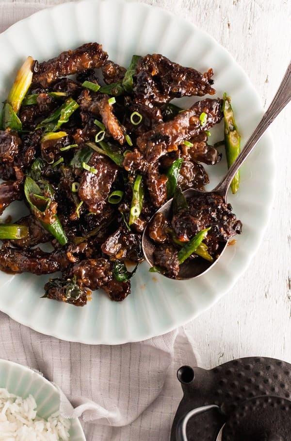 Crispy Sticky Mongolian Beef